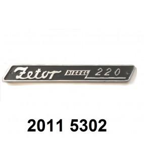 plaque de type de tracteur (220)