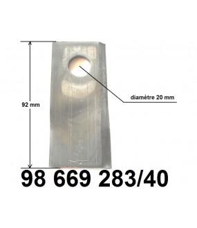 couteau D. de faucheuse ZTR 285D (boîte de 40)
