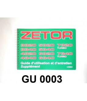 guide d'utilisation 33/43/53/63/7340