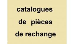catalogues de pièces