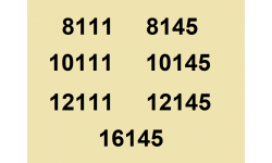 8111 à 16145